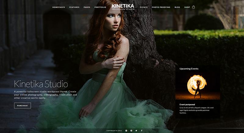 Photography WordPress Full Screen Theme