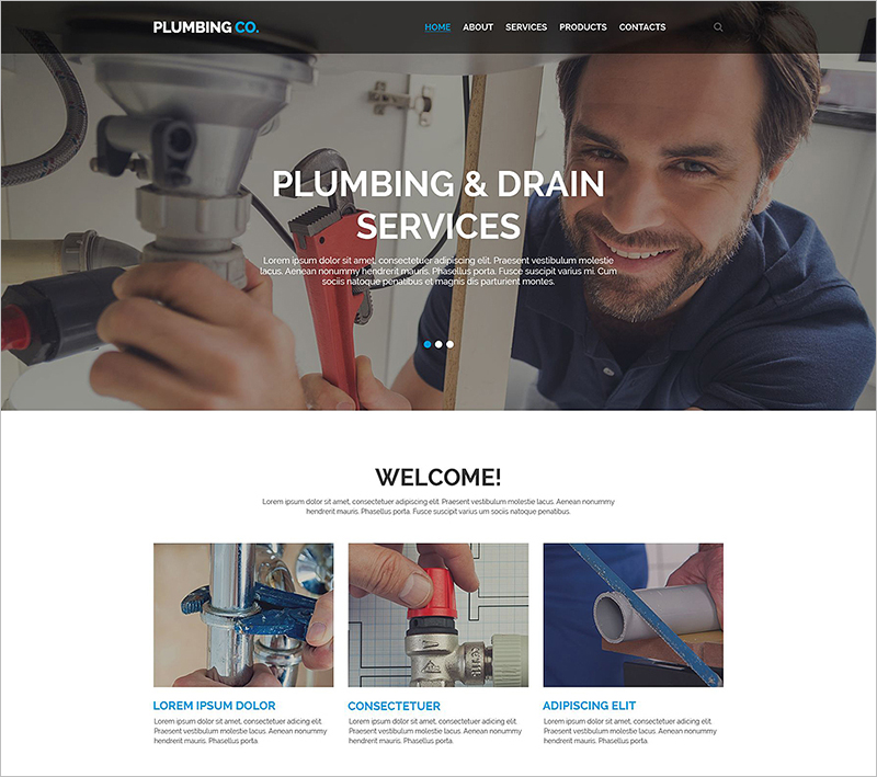 Plumbing Business Responsive Website Template