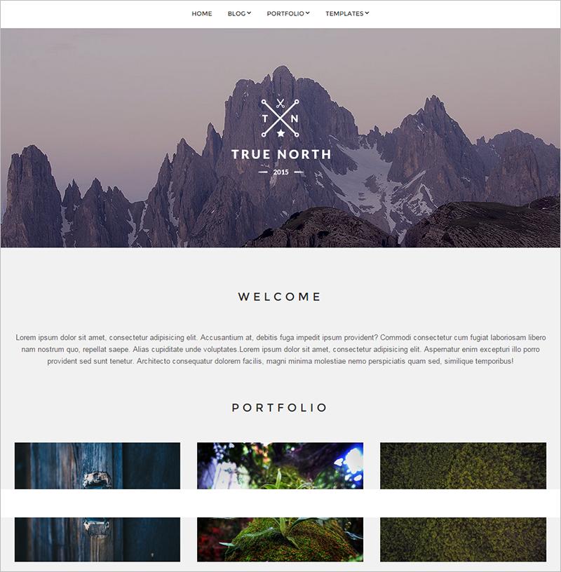 Portfolio WordPress Responsive Template