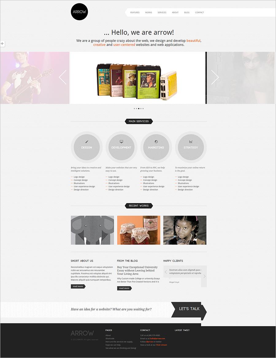 Premium Creative Portfolio WordPress Template