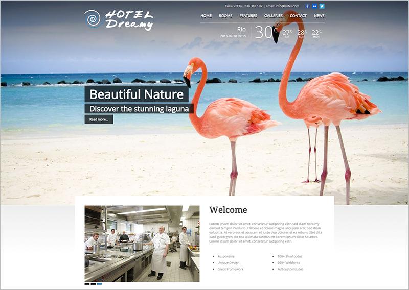 Premium Hotel WordPress Theme