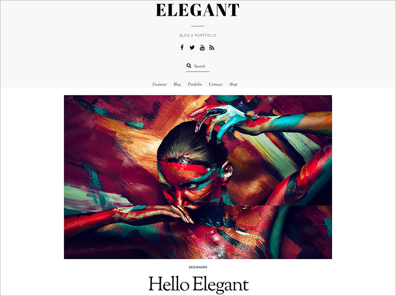 Blog Template With Beautiful Typography