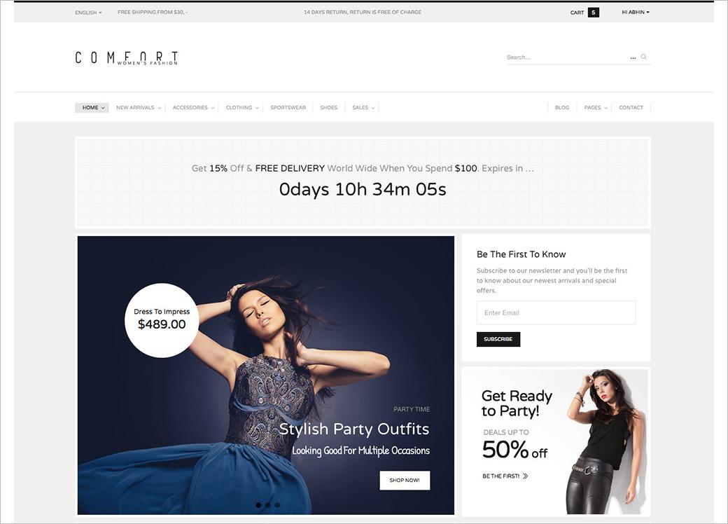 Premium WordPress Commerce Theme