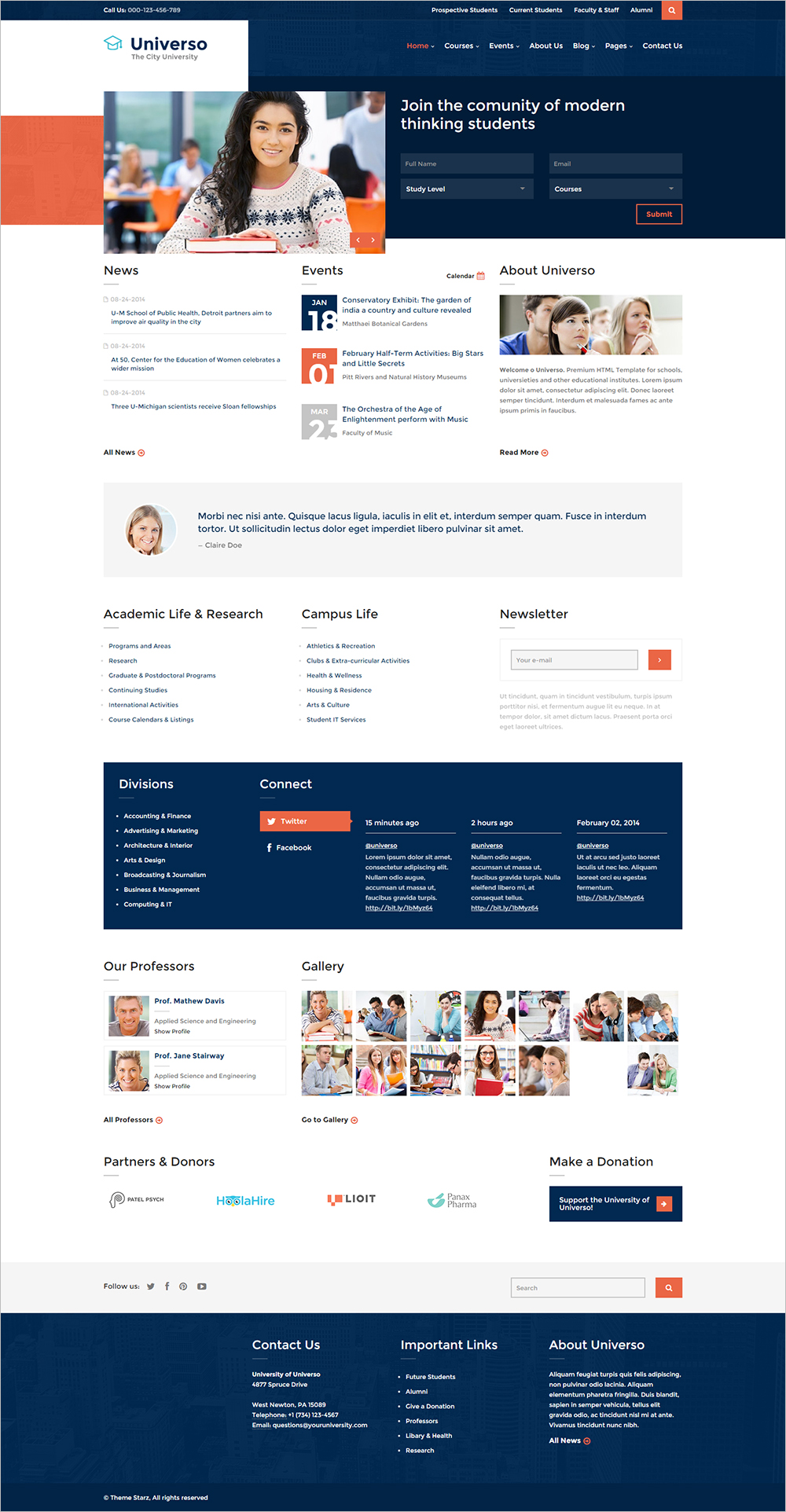 Professional Educational & University HTML Template