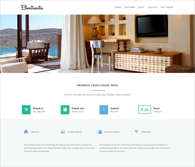 Real Estate WordPress Theme With Booking System