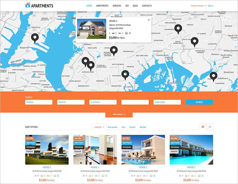 Rental Agency WP Theme 2015