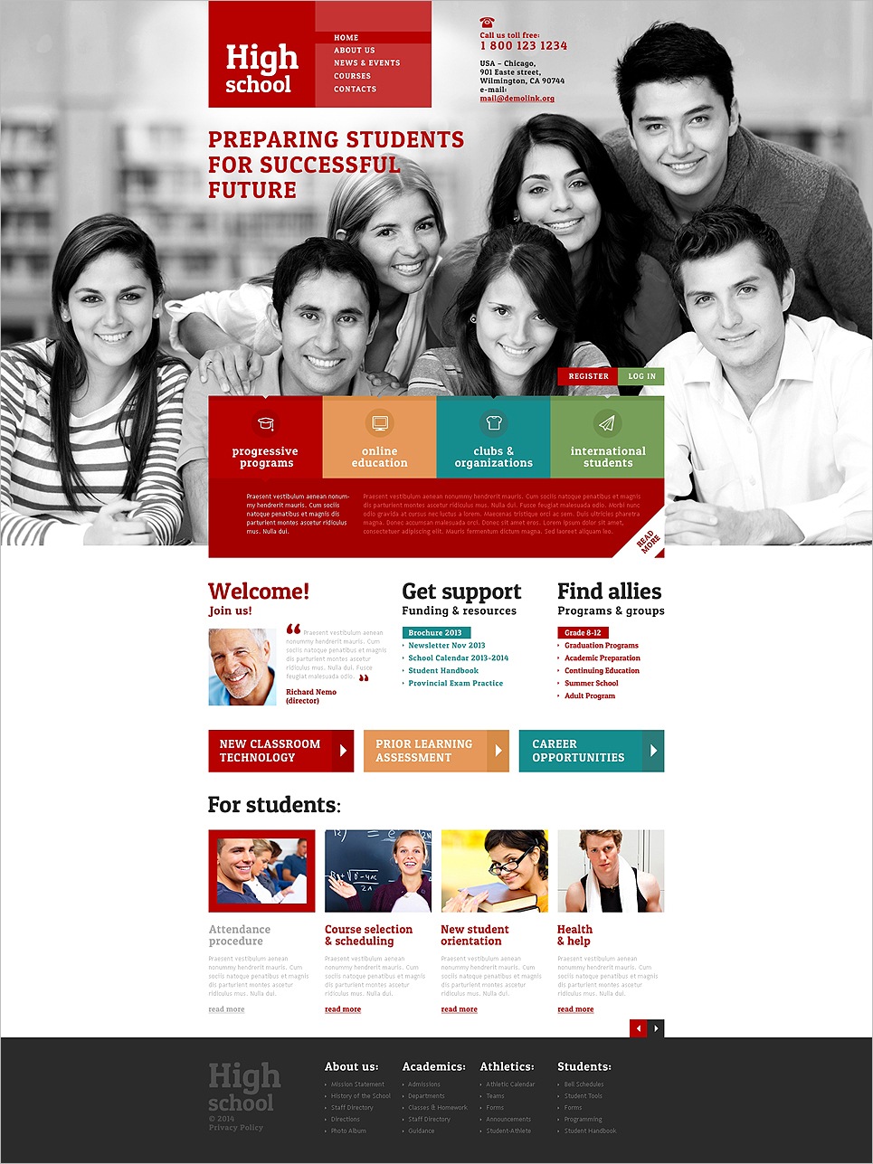 Responsive College & University Website Template