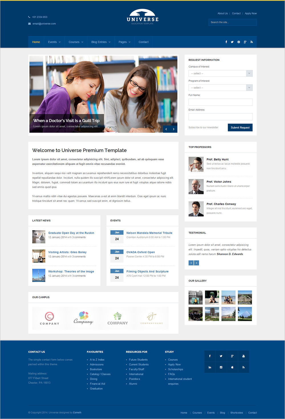 Responsive Educational Website Template