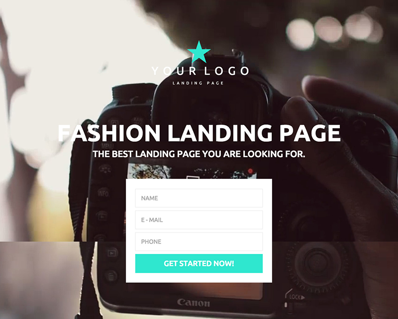 Responsive Fashion One Page HTML Landing Page Template