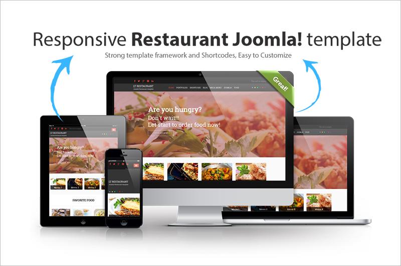 Responsive Food Order & Restaurant Joomla Template
