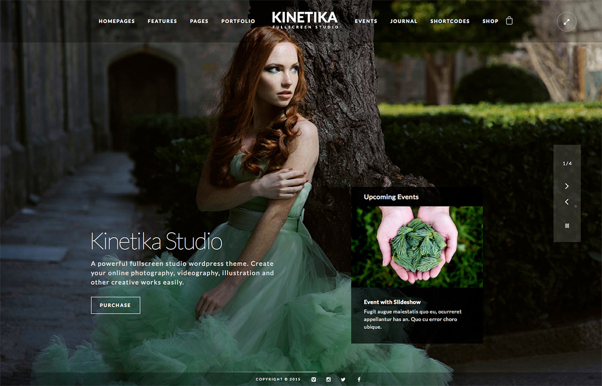 Responsive Fullscreen Photography Wp Theme