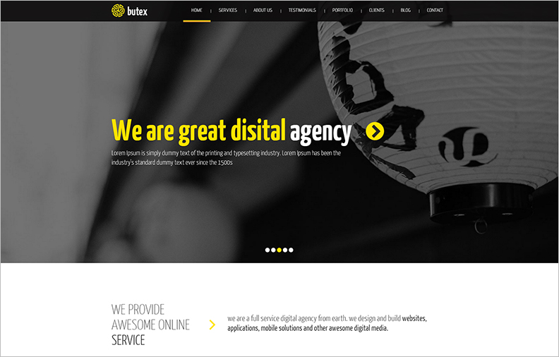 Responsive HTML5 One Page Template