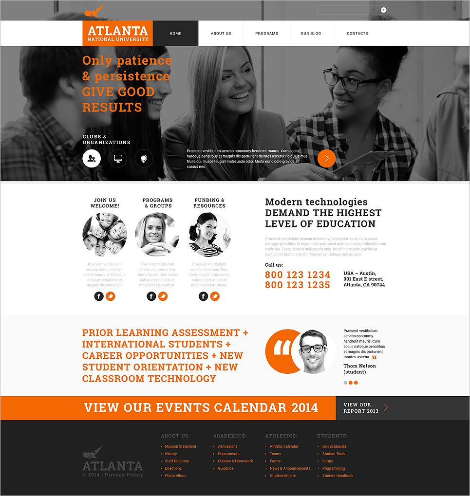 Responsive Joomla University Template