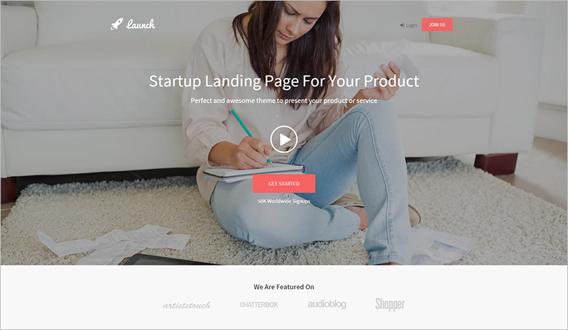 Responsive Landing Page Template for Start Up Products