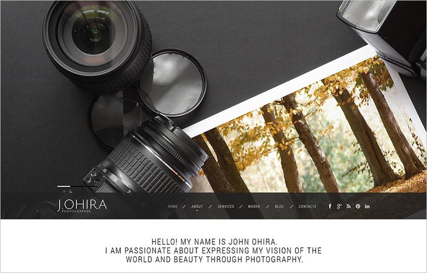 Responsive Photographer Portfolio Website Template