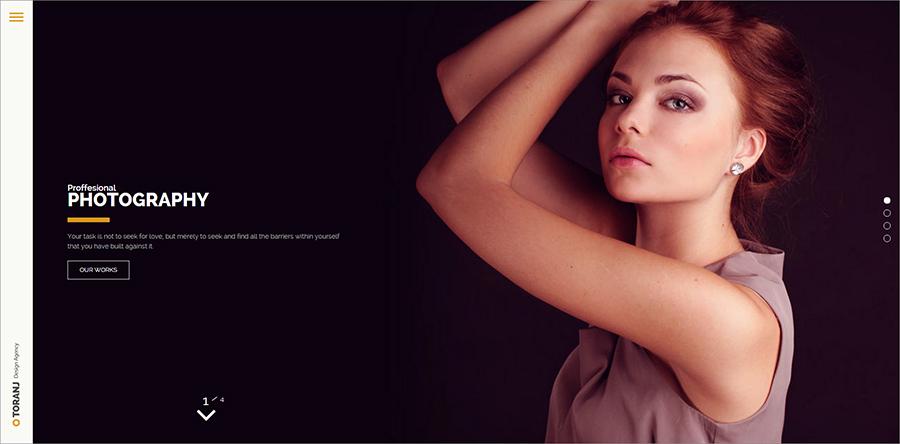 Responsive Photography WordPress Template