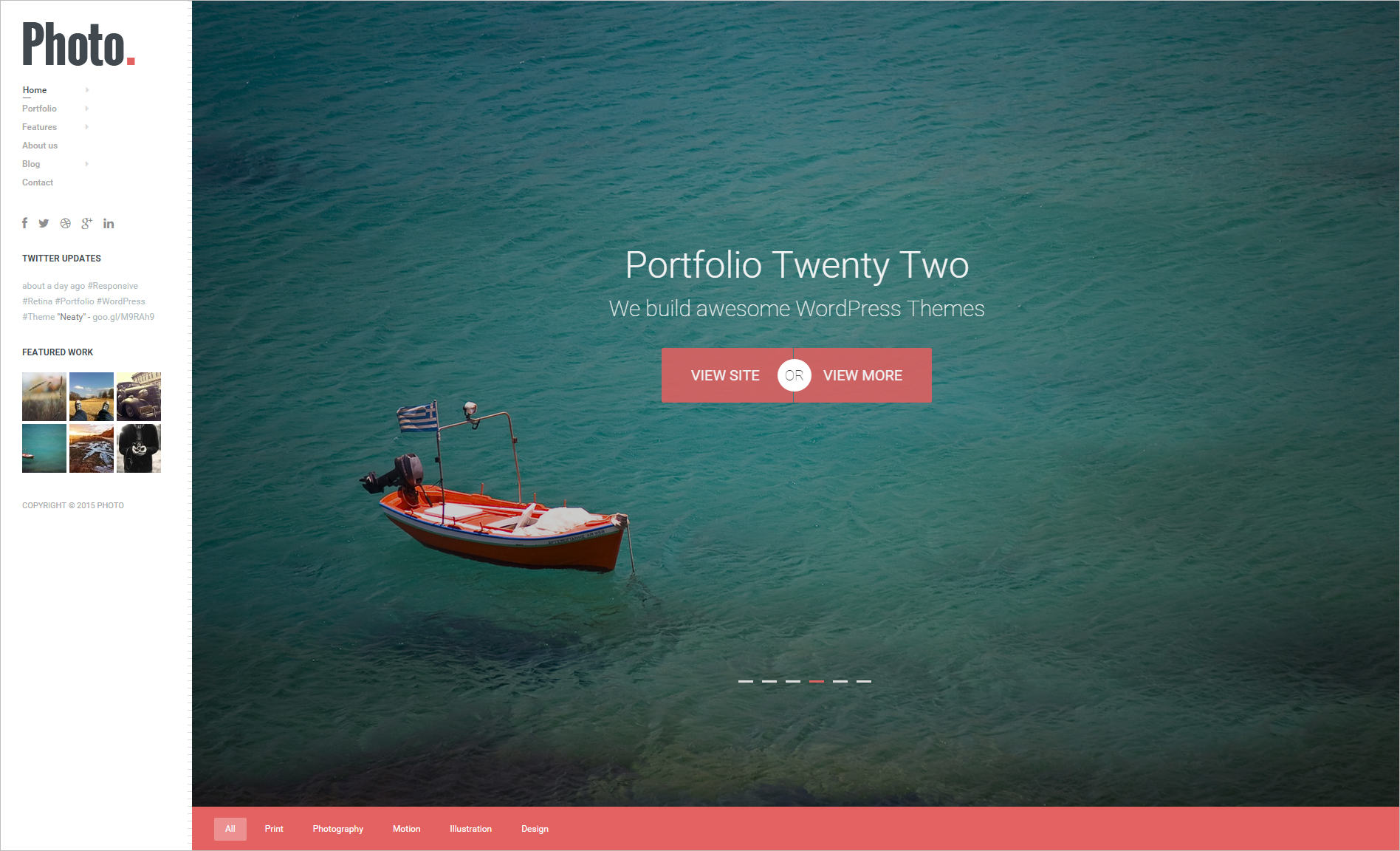 Responsive & Retina Photography WordPress Theme