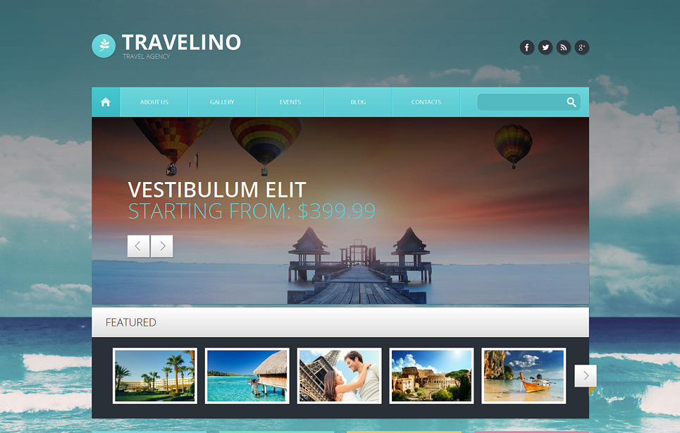 Responsive Travel Agency Template