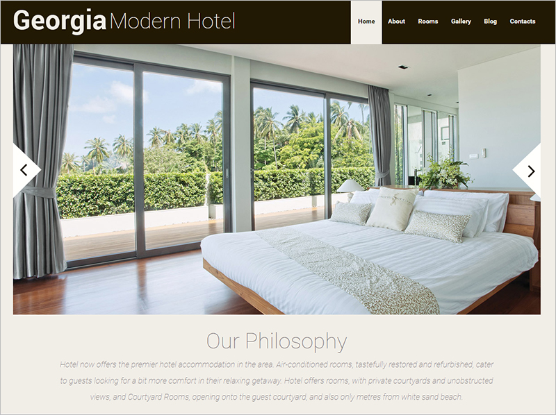 Responsive WordPress Hotel Booking Theme