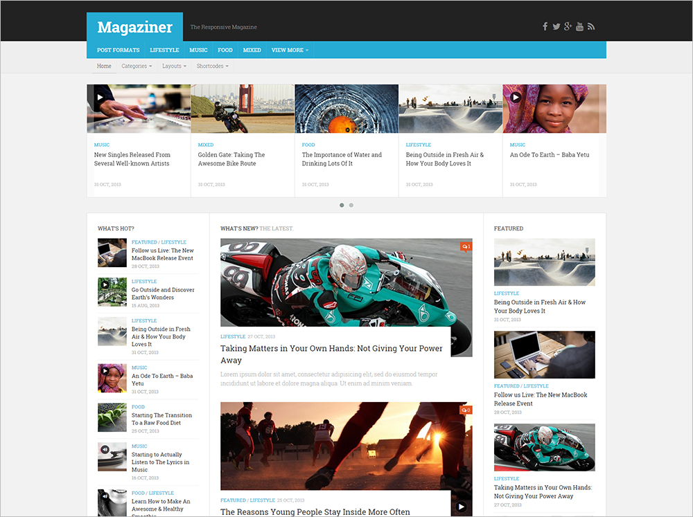 Responsive WordPress Magazine Theme