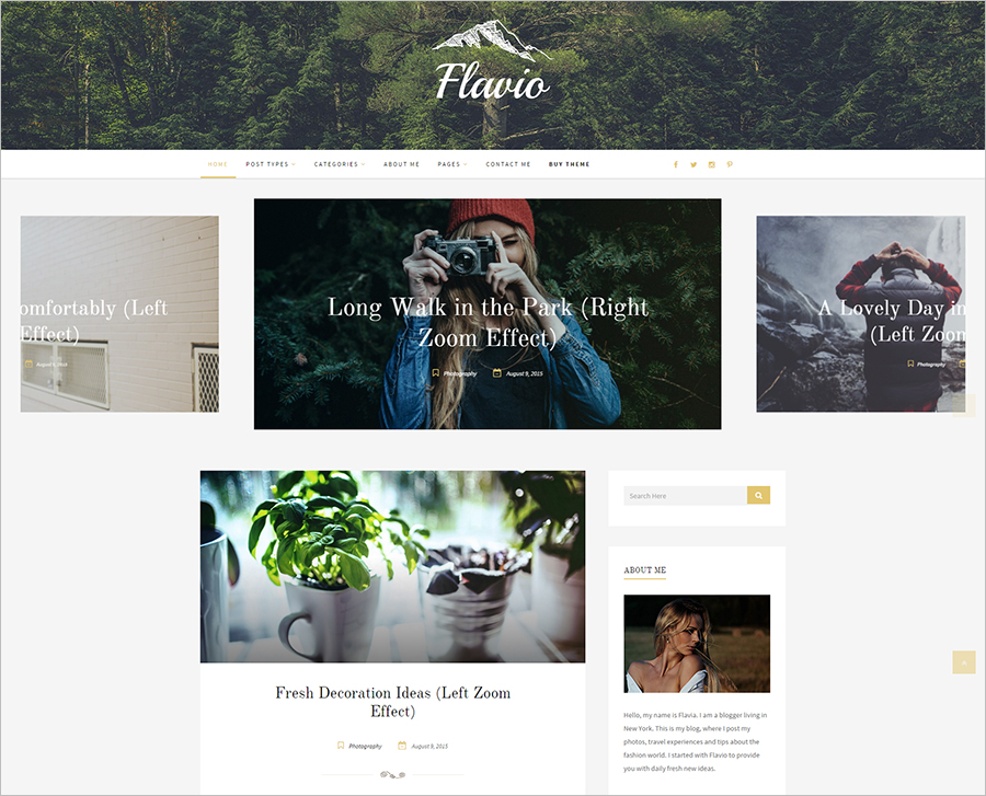 Responsive WordPress Personal Theme
