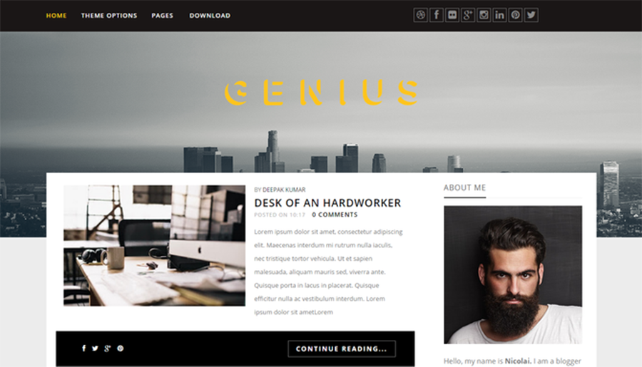 SEO Optimized Blogging Template Fro Free