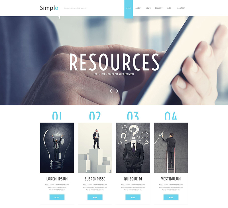 Simple Business Responsive Website Template