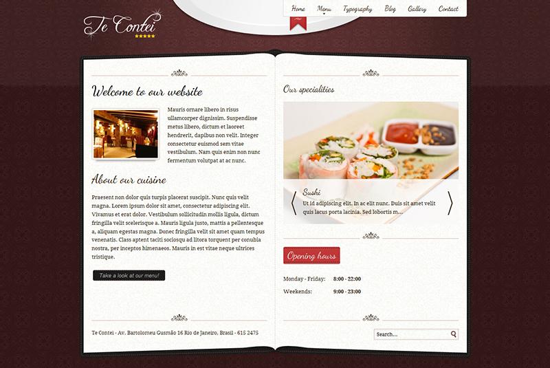 Simple Joomla Restaurant Template