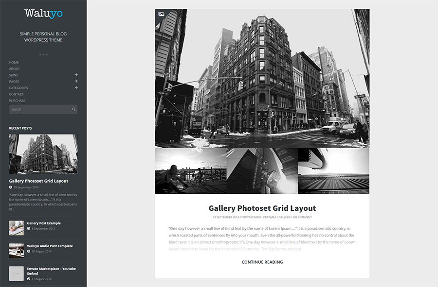 Simple Personal WordPress Blog Theme