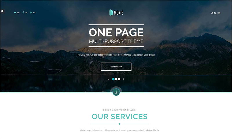Single Page Multi-Purpose HTML5 Template