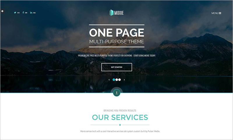 Single Page Multi-Purpose HTML5 Template