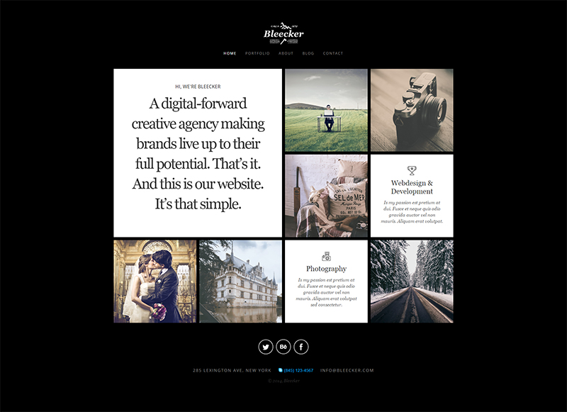 Single Page Portfolio HTML5CSS3 Website Template