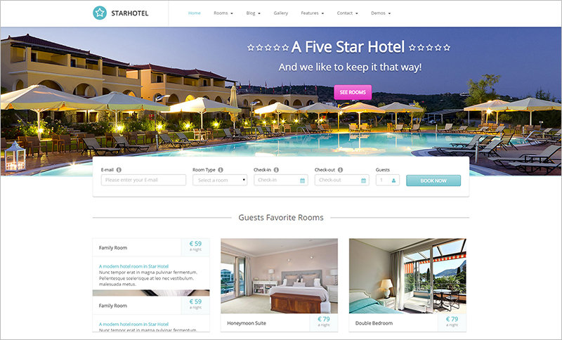 Star Hotel WordPress Theme
