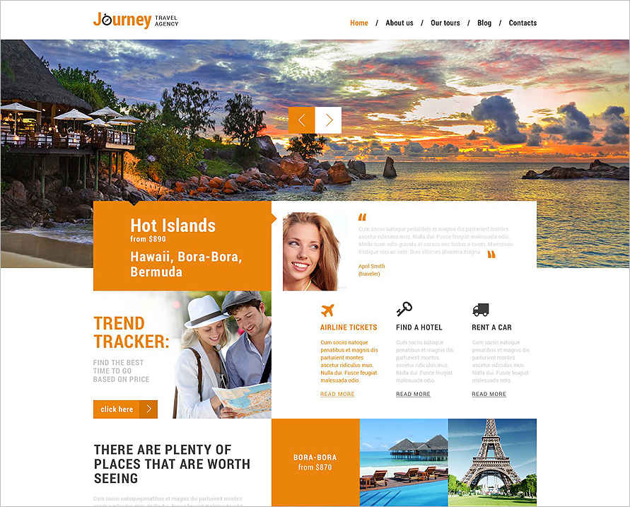 Travel Agency Tempalte WordPress