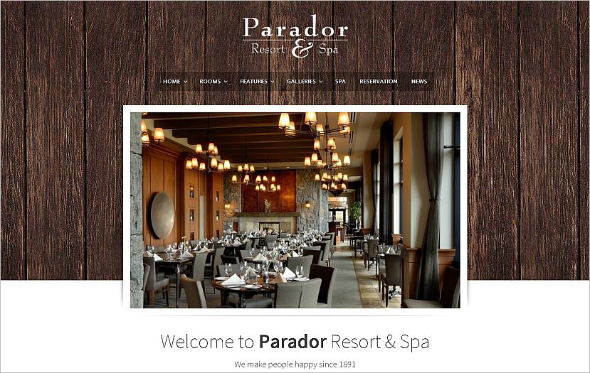 Travel Resort WordPress Theme