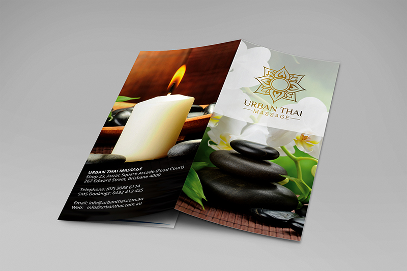 Tri Fold Massage Brochure Template