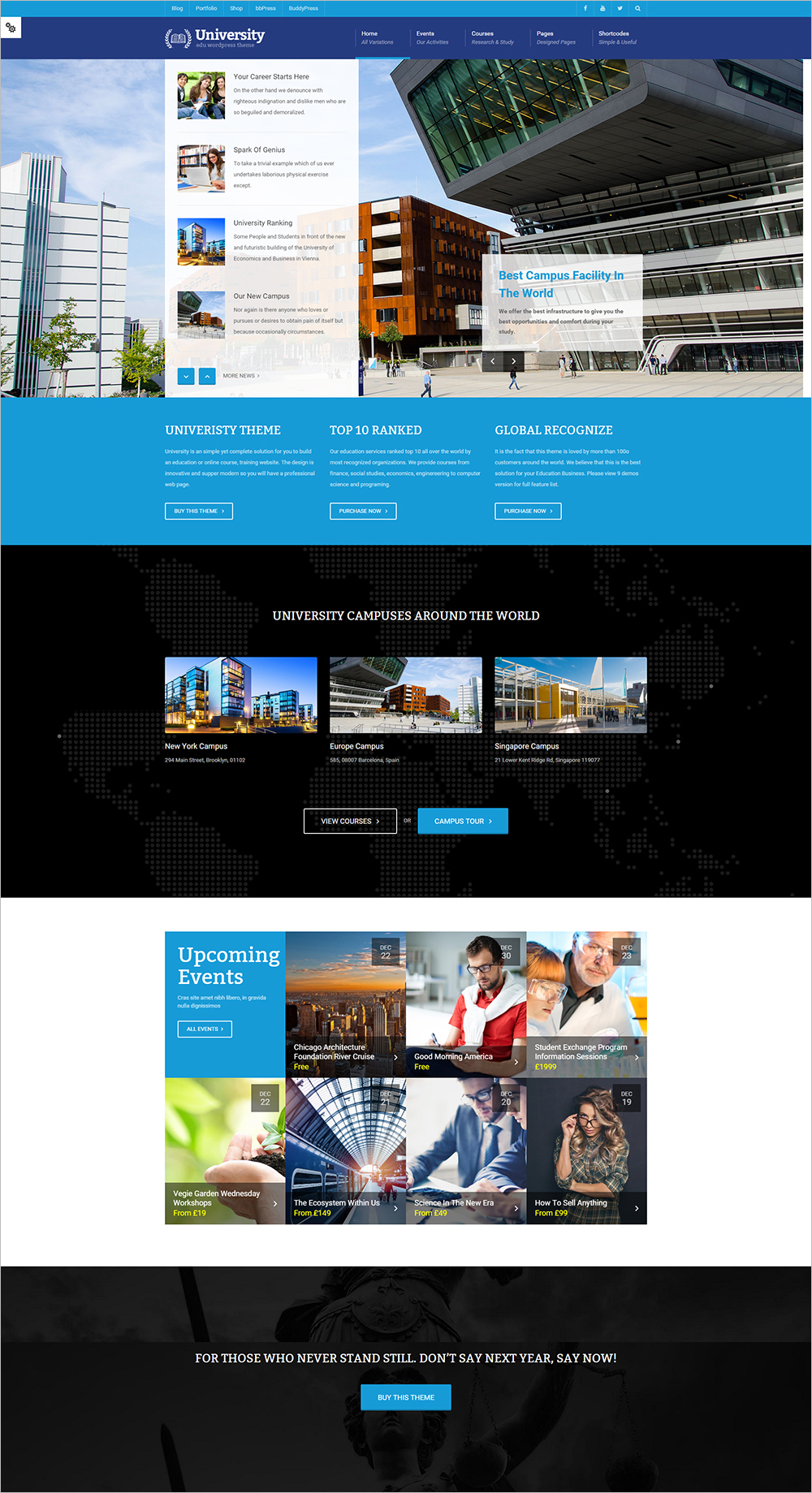Ultra Responsive Education Courses WordPress Template