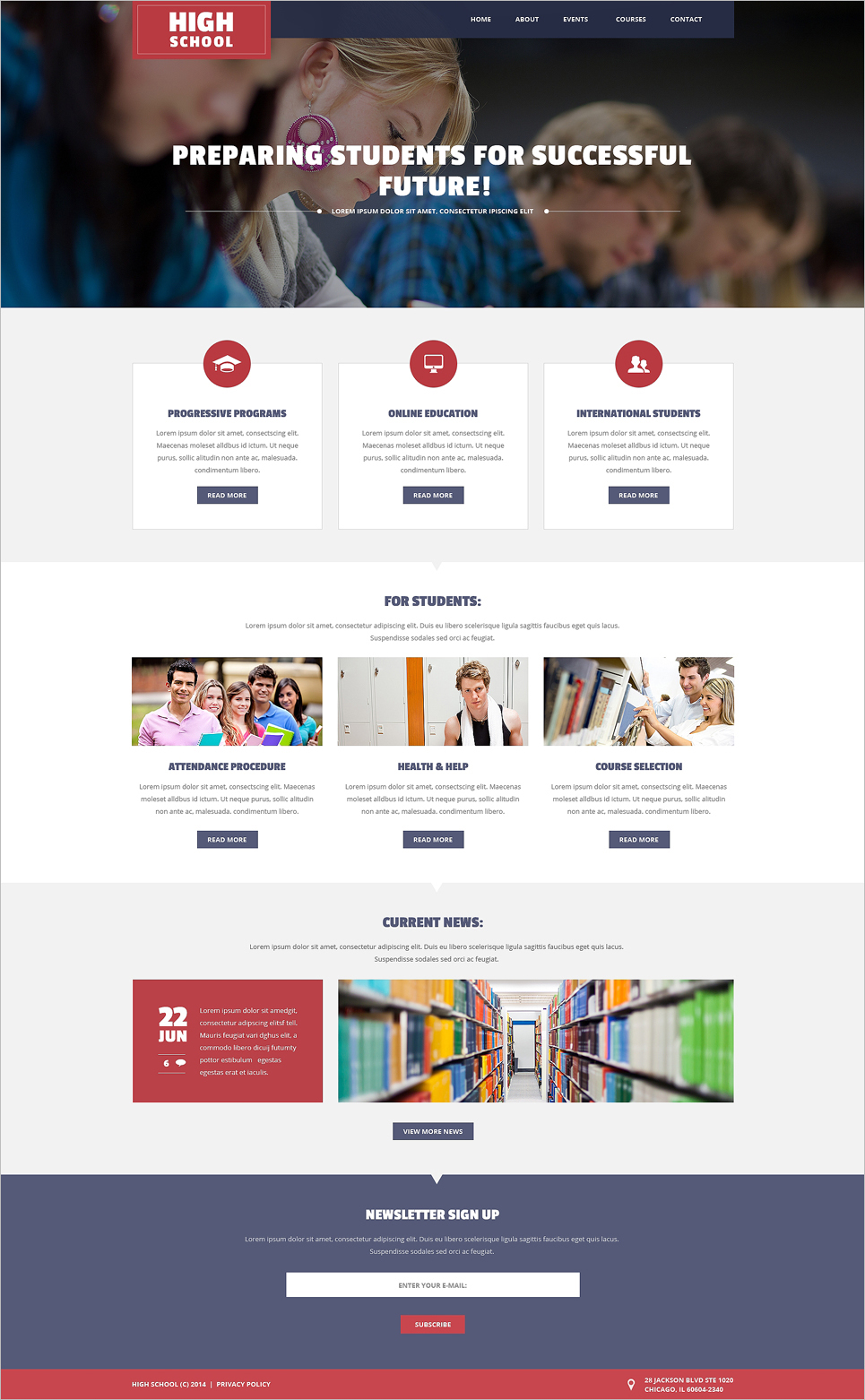 University Website Templates html5