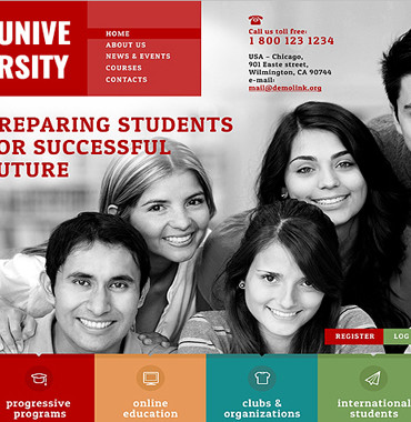 University Website Themes