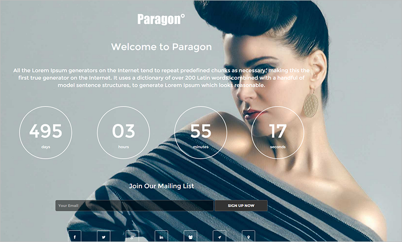 WP Full Screen Theme With Unlimited Color Scheme