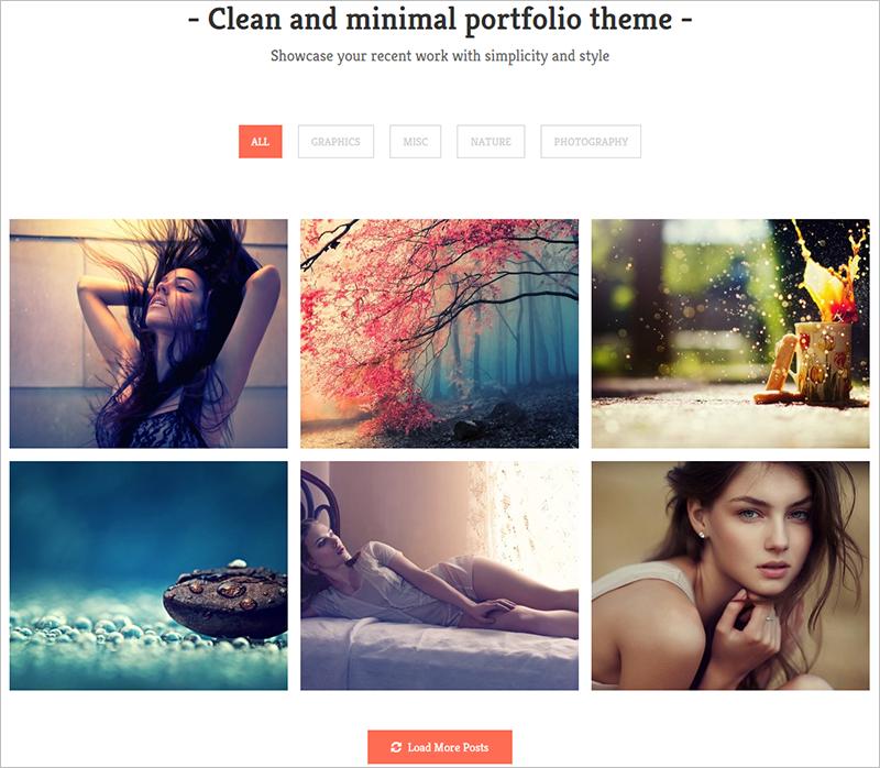 WP Portfolio Theme With Unlimited Background Options