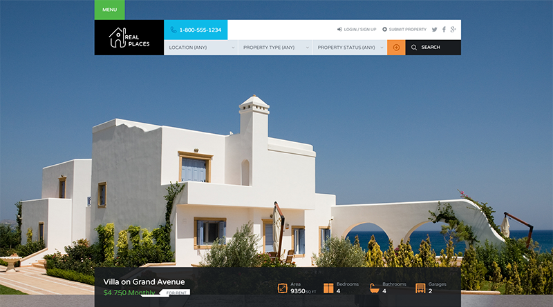 WP Real Estate Theme 2015
