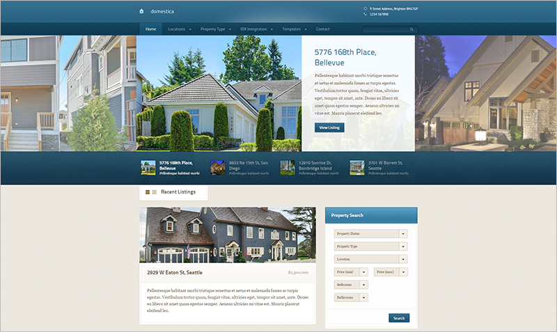WP Real Estate Theme Integrated Google Maps