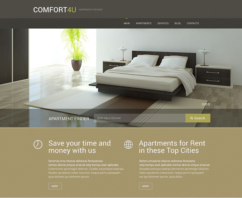 WP Theme Rent And Sale Apartments