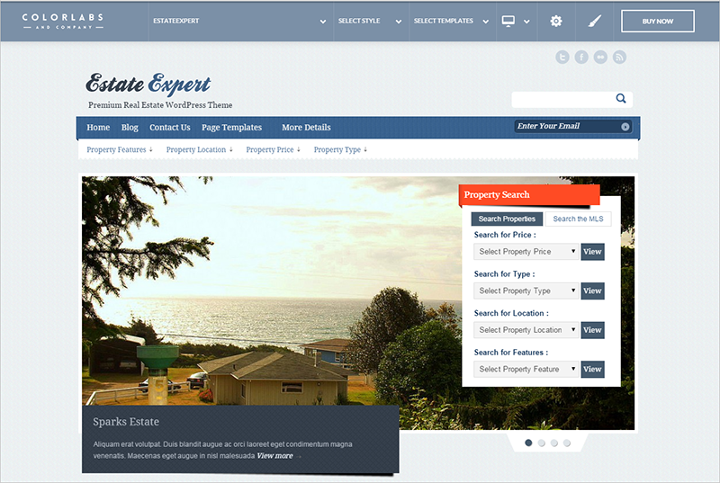 WP Theme With Advanced Integrated Property Search