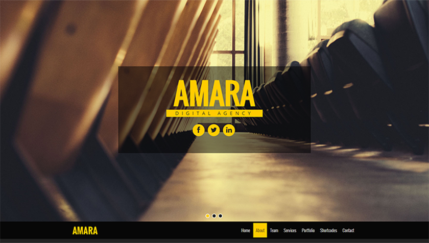 Website Template With Google Web Fonts For Photography