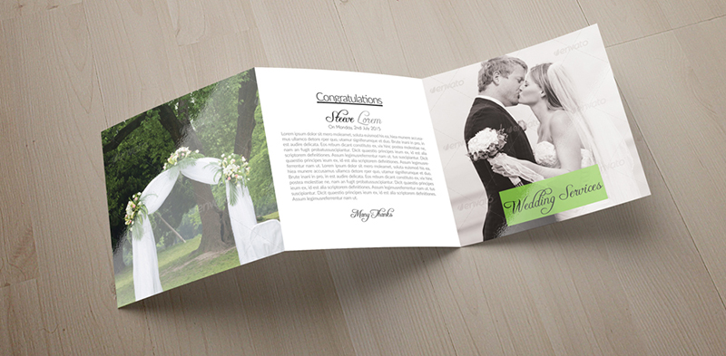 Wedding Tri Fold Brochure Template