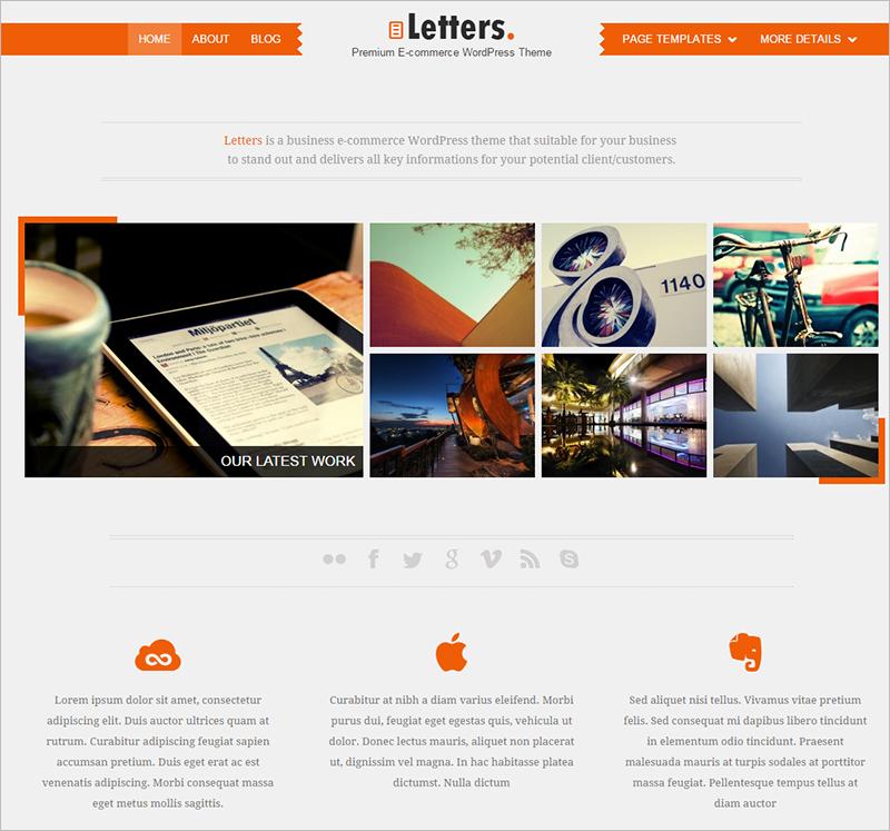 WordPress Portfolio Template 2015