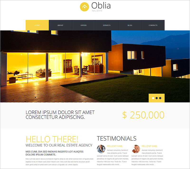 WordPress Real Estate Template With Multiple Color Options