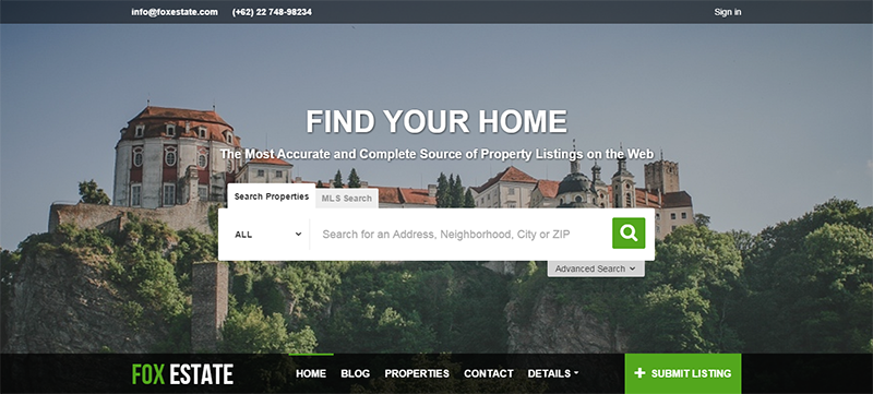 WordPress Real Estate Template With Payment Gateway Support